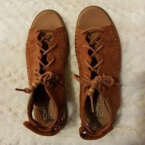 TOMS Brown Stylish Kids Shoes